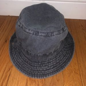 Grey Brandy Melville Bucket Hat